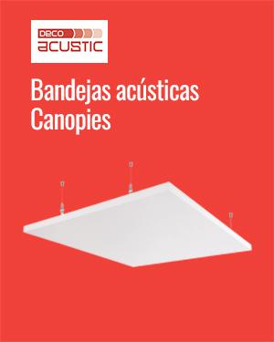Bandejas acústicas Canopies